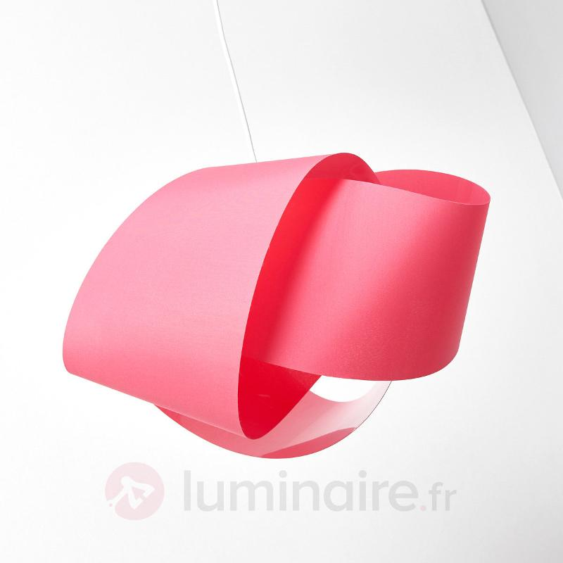 Suspension en tissu rouge Faya au design enroulé - Suspensions en tissu