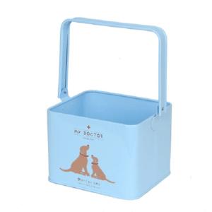 Seau pour ranger les produits vétérinaires pour chiens