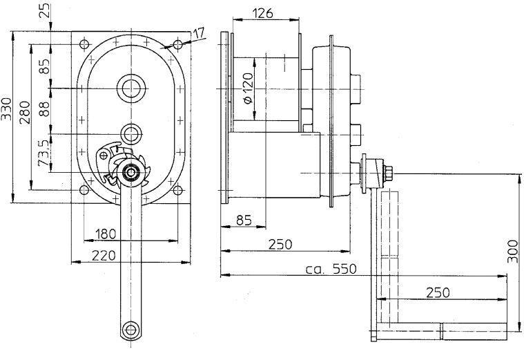 Treuils manuels - Treuil manuel à câble 2.000kg