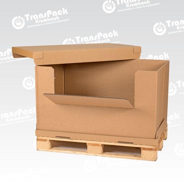 Palettencontainer Aus Wellpappe Transpack Krumbach Gmbh Deutschland