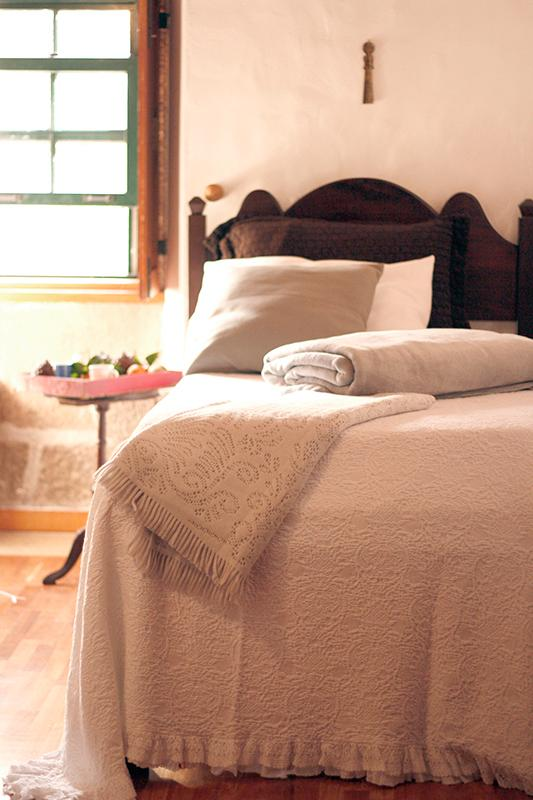 white lace bedspread -