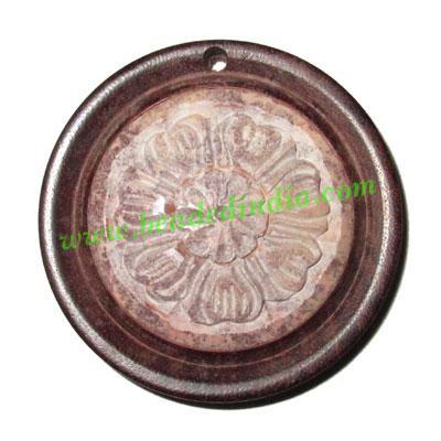 Handmade wooden fancy pendants, size : 43x8mm - Handmade wooden fancy pendants, size : 43x8mm