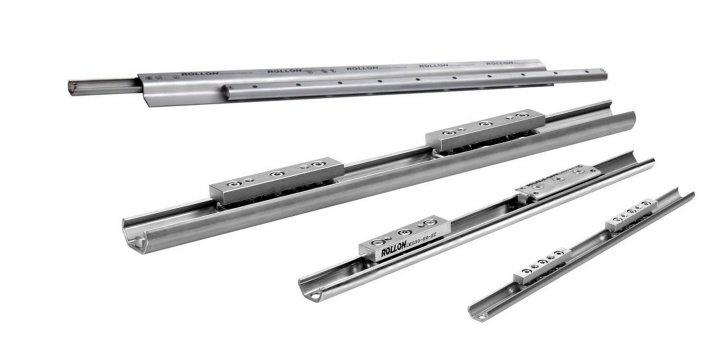 X-Rail - Linear bearings with bended C-profile. Available in zinc-plated steel, stainless