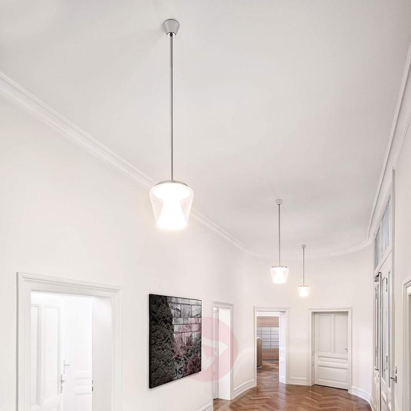 LED designer hanging light Annex with glass shade - design-hotel-lighting