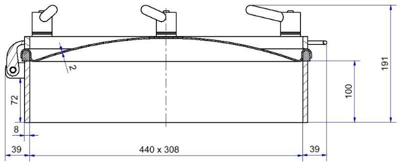 Portes à pression sans DESP - Porte à pression sans DESP moyenne pression ovale - Série H04