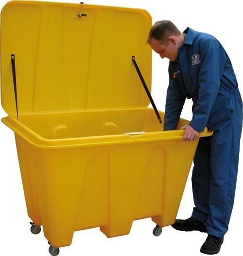 Bac à sel ou sable 500 litres jaune - COF500J Coffre et bac à sel, sable, absorbants