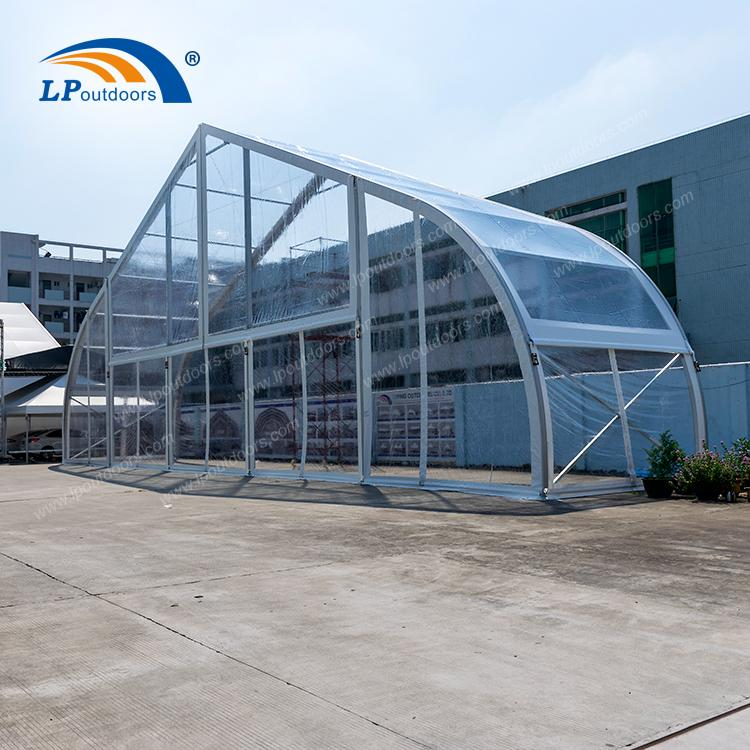 Carpa curva transparente de 25m para festival de música al a - Tienda de fiesta de 25 metros de LP OUTDOORS