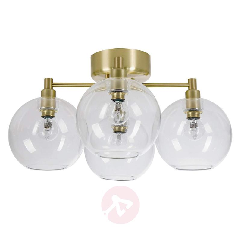 Four-bulb glass ceiling lamp Gloria - indoor-lighting