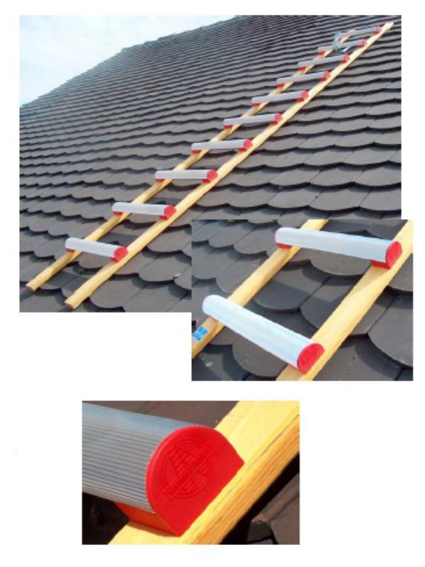 Echelles de toiture - Echelle de toiture barreaux aluminium
