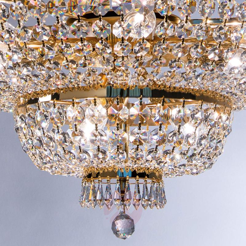 Wonderful crystalchandelier Sheraton, gold-plated - design-hotel-lighting