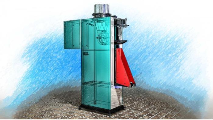 Svēršanas devējs ar rotējošu padevēju vārstu maisiņos - Rotējošais dozators DFSM-RP ir paredzēts brīvu, pulverveida utt.