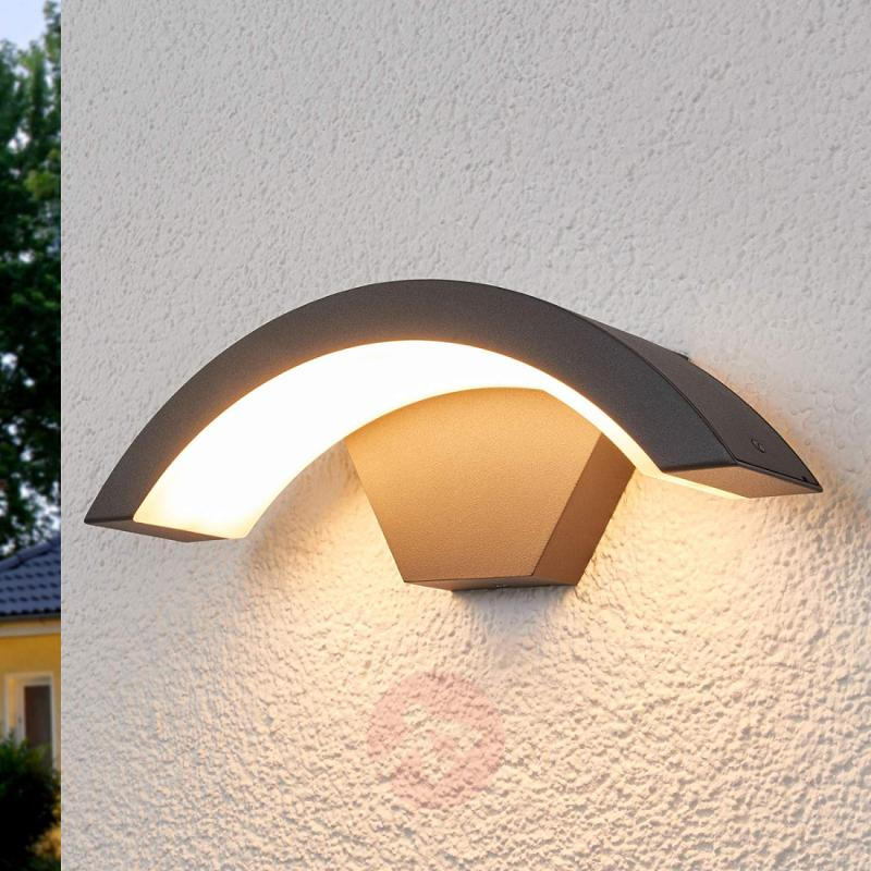 Curved LED outdoor wall light Jule - outdoor-led-lights