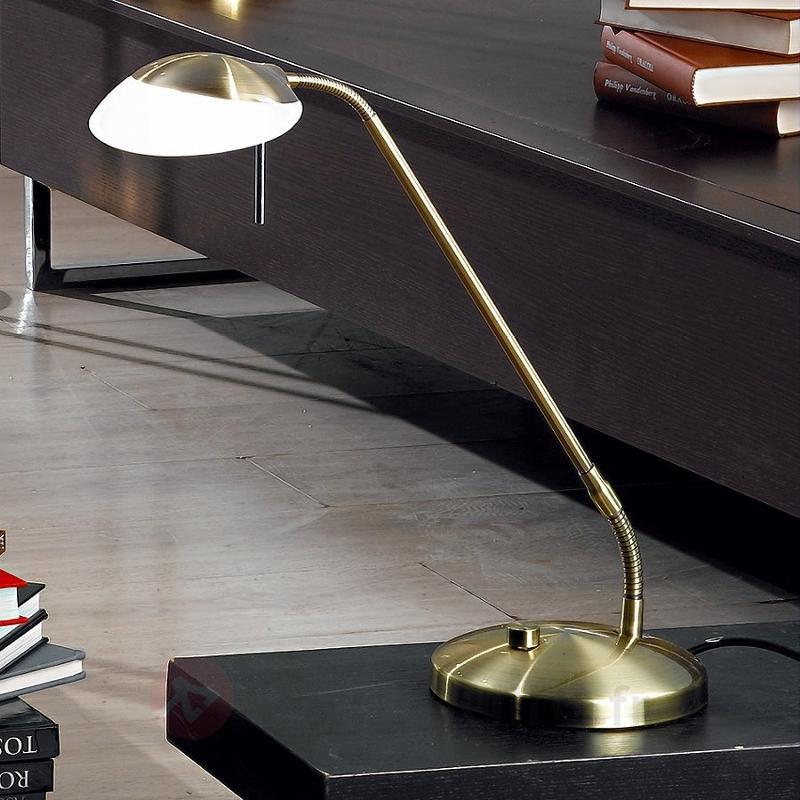 Superbe lampe à poser Anara, patiné - Lampes de bureau