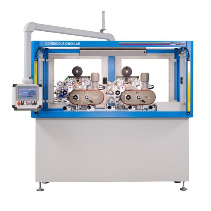 CONTINUOUS CIRCULAR Tampondruckmaschine - Mehrfarbige Rotations-Tampondruckmaschine