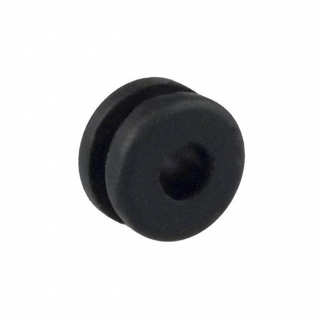 "GROMMET 0.125"" RUBBER BLACK - Keystone Electronics 730"