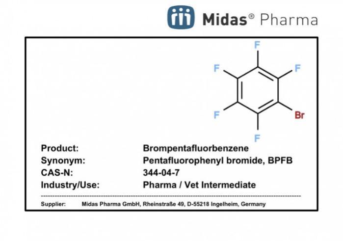 Brompentafluorbenzeno - Brompentafluorbenzeno; 344-04-7; Bromuro de pentafluorofenilo; BPFB