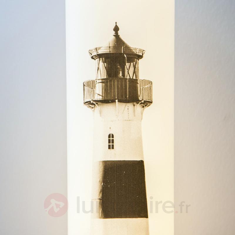 Lampe à poser LED Eastern Sea avec motif de phare - Lampes à poser LED