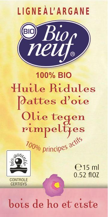 HUILE RIDULES PATTES D'OIE 15 ml CISTE ET BOIS DE ROSE - COSMETIQUE BIO