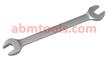Double Open End Spanner - CRV Elliptical Sating Finish - U-shaped opening that grips two opposite faces of the bolt or nut.