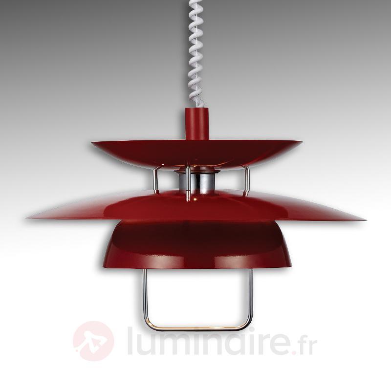 suspension berga rouge r glable en hauteur cuisine et salle manger luminaire fr allemagne. Black Bedroom Furniture Sets. Home Design Ideas