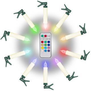 Kabellose RGB LED-Kerzen 10er Set - null