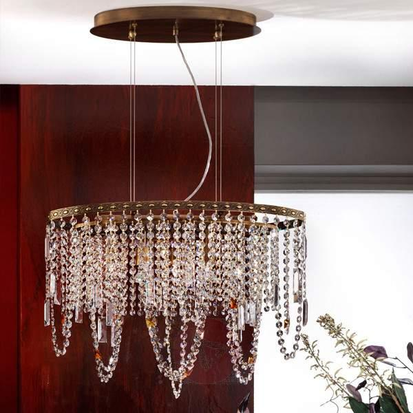 Jevana Hanging Light Old Brass with Decorations - Pendant Lighting