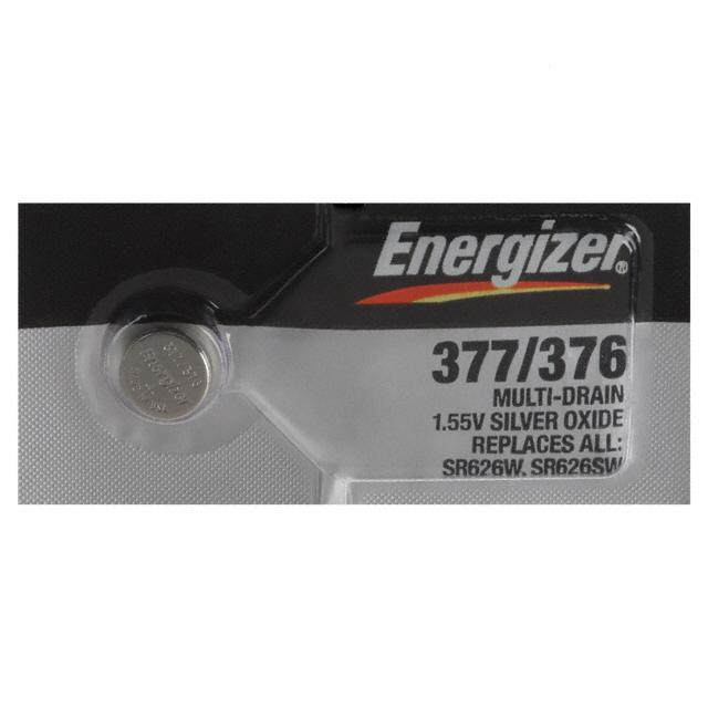 BATT SLVR OX 1.55V BUTTON 6.8MM - Energizer Battery Company 377-376TZ