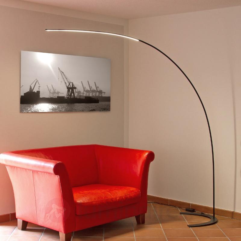 Lampadaire arqué LED Danua noir - Lampadaires LED