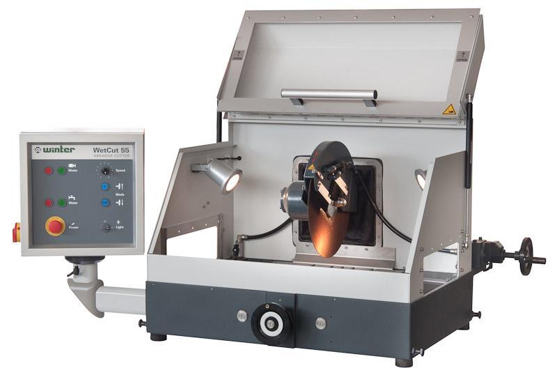 Nasstrennschneidmaschine TYPE WetCut 55 - Robuster Trennschneider für den Einsatz in Materialographie und Produktion