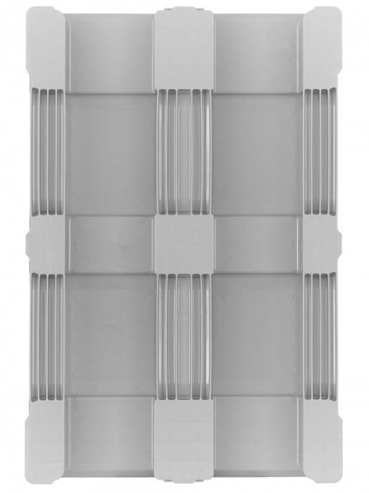 TC1 - Paleta de plástico, Palets de plástico con parte superior cerrada