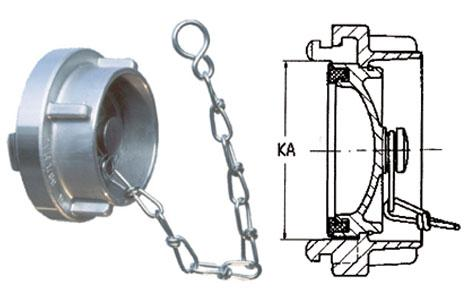 Storz couplings - Blank caps with chain