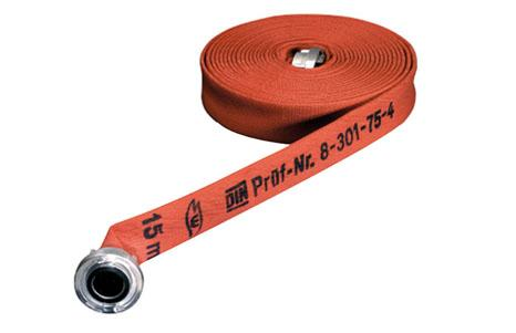 Water hoses I Layflat hoses - GrüloFirefighter DIN 14 811-3F red