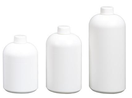 Rund-Flaschen Serie RONDO - Polyethylen (PE-HD) - aus HDPE/ rHDPE, Gewinde 28/410, Volumen 500 - 1000 ml
