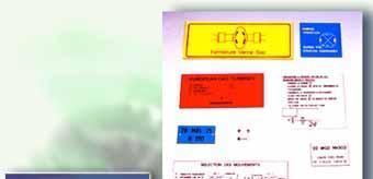 Etiquetage  spécifique à la tuyauterie