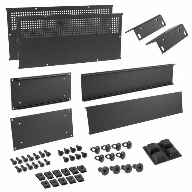 """CHASSIS 8X16.6X3.5"""" BLACK - Hammond Manufacturing RM2U1908VBK"""