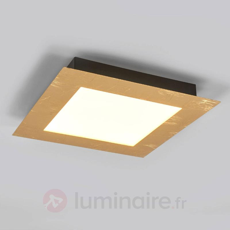 Plafonnier carré LED Deno or - Plafonniers LED
