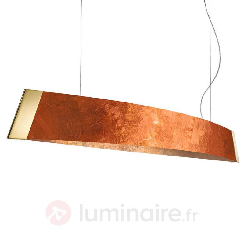 Barca - suspension LED finition feuille de cuivre - Suspensions LED