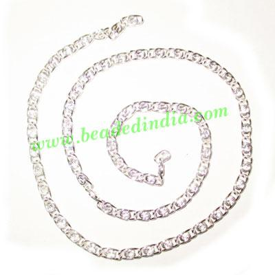 Silver Plated Metal Chain, size: 1x3mm, approx 46.4 meters i - Silver Plated Metal Chain, size: 1x3mm, approx 46.4 meters in a Kg.