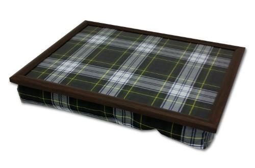 Margot Steel Designs Luxury Tartan Lap Tray - Deep Filled Base, Matching Fabric Top