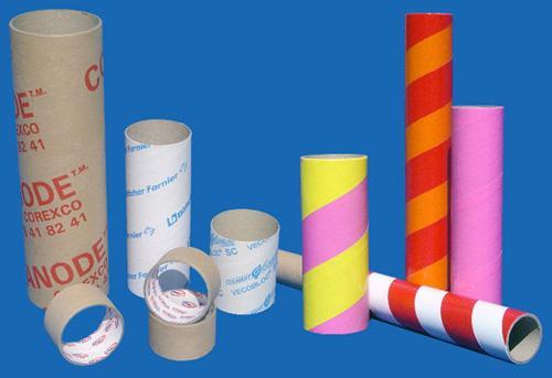 Tube carton couleur et imprimé