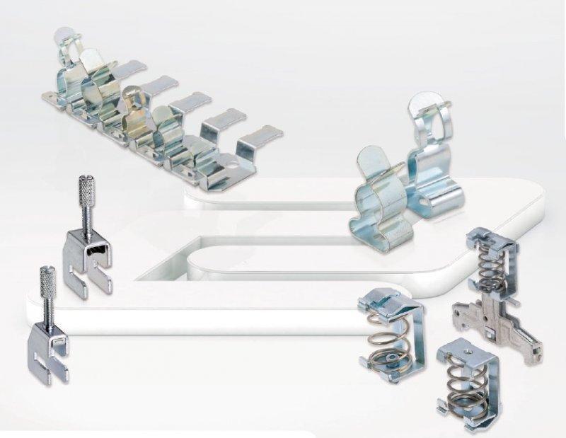 Brida de conexión del apantallamiento  SABKM / SABKMD - SABKM / SABKMD, Conexión de mallas para montaje de barras colectoras CONTA-CLIP