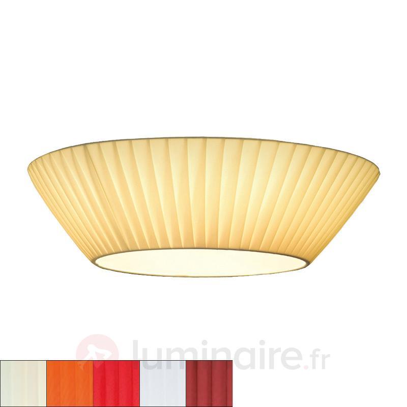 Plafonnier profil fin Emma diamètre 50 cm - Plafonniers en tissu
