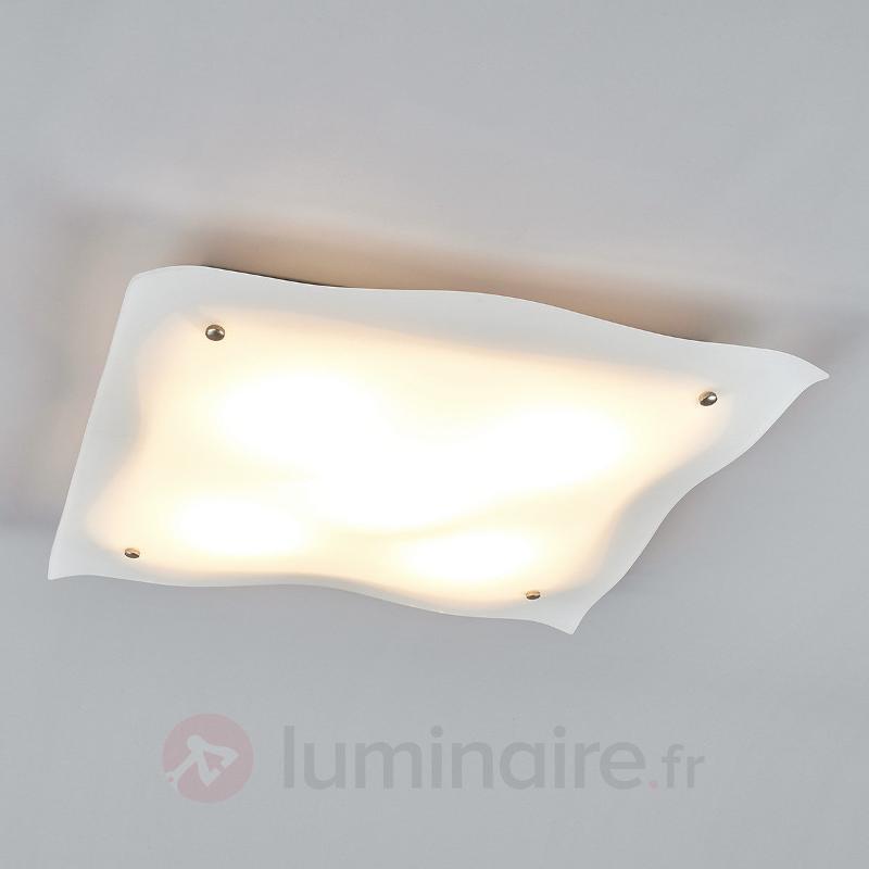 Kiliana - plafonnier LED en verre - Plafonniers LED