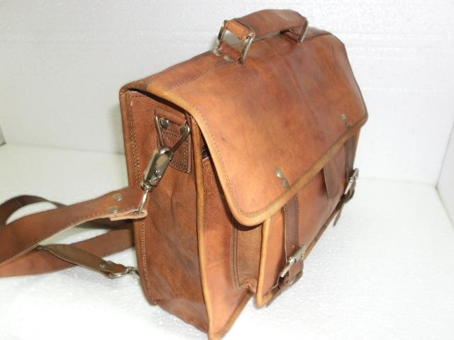 Leather Laptop Bag - Leather Laptop bag in backpack style