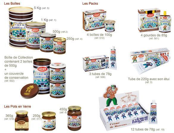 Crème de Marrons de l'Ardèche - 510 - Emballage: Pack de 4 Boîtes 100g