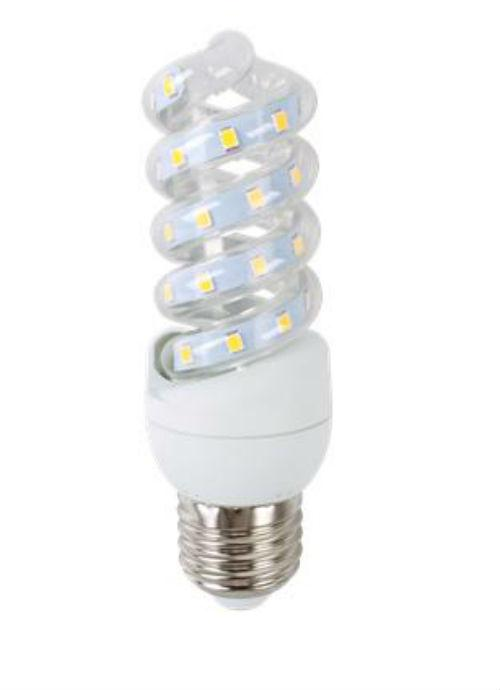 Lampadine LED a spirale E27 - 7W trasparente 3000/6400K 600/625/650lm