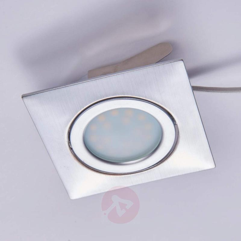 Pivotable LED recessed light Andrej in chrome - indoor-lighting