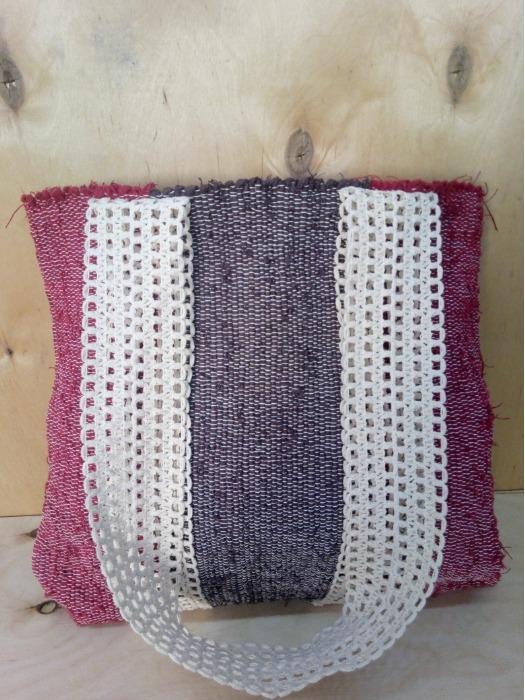 Designer handwoven tote bag. - 100% handmade! Eco style!