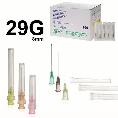 SFM Injektions-Kanülen 29G (0,33 mm x 8 mm) (100) - null