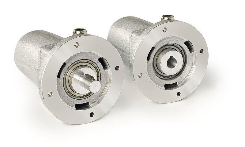 Potenciómetro de engranaje GP44 - Potenciómetro de engranaje GP44, con eje macizo o eje hueco de agujero ciego
